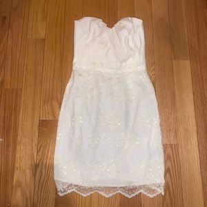 NEW ASOS lace strapless dress bridal shower 2 XS